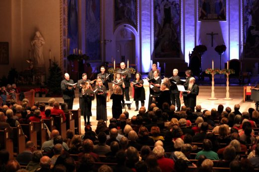 "Cappella Romana sings ""Carol of the Bells"" as an encore, Dec. 22 at St. Mary's Cathedral in Portland"
