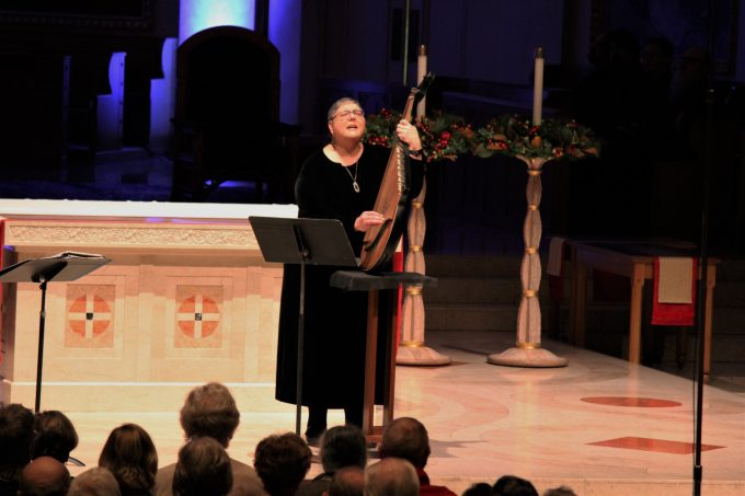 "Nadia Tarnawsky sings and plays the bandura at ""Christmas in Ukraine"", Dec. 22 at St. Mary's Cathedral in Portland"